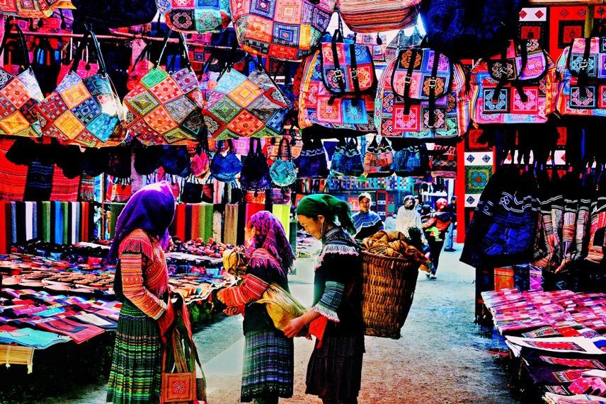Mercato a Sapa Vietnam